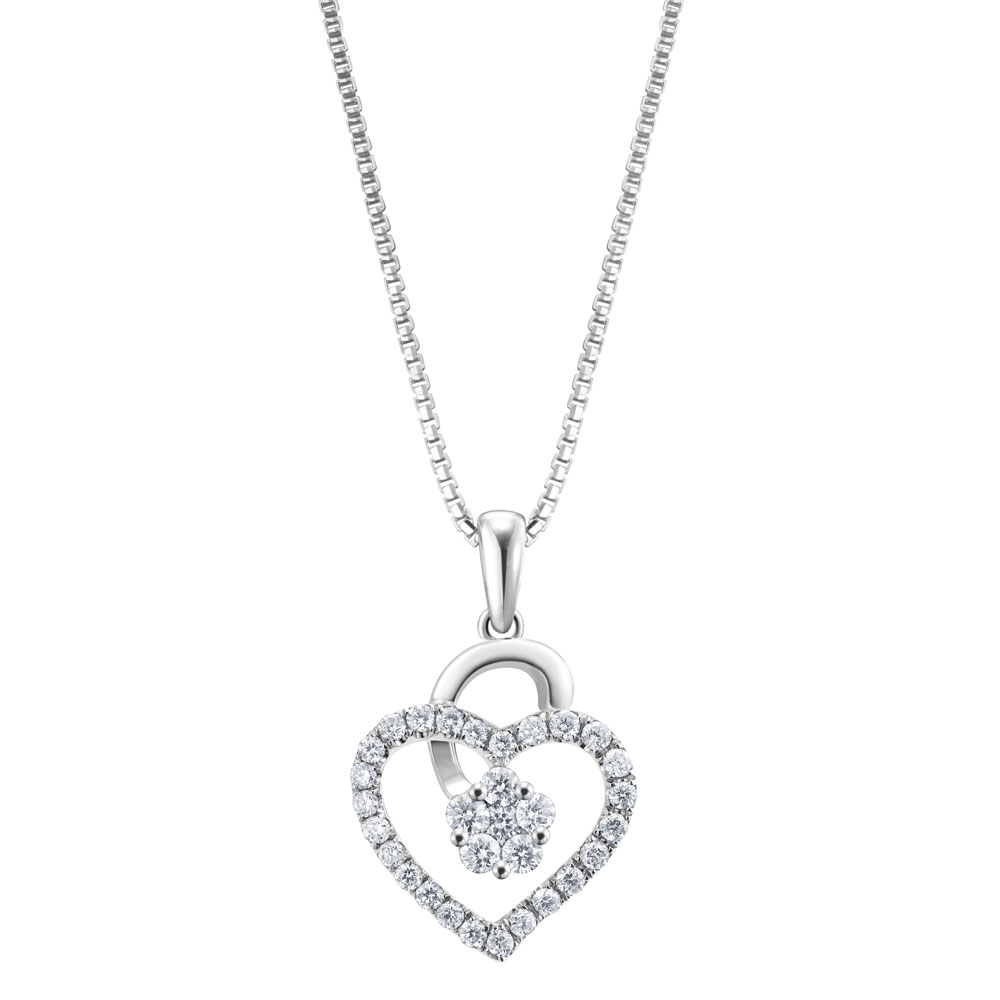 Poh kong offers best pendant in malaysia for men women poh kong i love love diamond pendant 3 aloadofball Choice Image