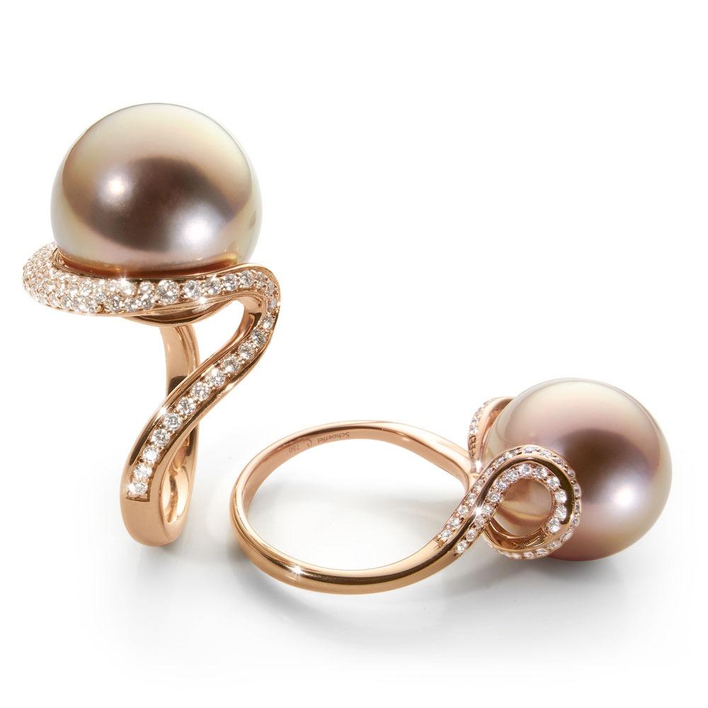 Beautiful Wedding Ring Cincin And Berlian Poh Kong Tiaria Eternity Tunangan Emas Scarlet Pearls 2